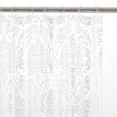 Damask Print Shower Curtain