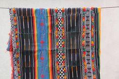 Vintage Tuareg Textile / Wedding Blanket, Saddle,Tent Cloth, North Africa / Vintage (1970's), Tribal, Multi-Colored, Large / Interior Design