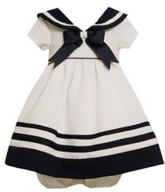 someday there will be another Nagle girl.... Amazon.com: Bonnie Baby-Girls Infant Nautical Dress With Navy Trim: Clothing