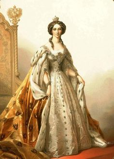 Maria Alexandrovna in her coronation robes