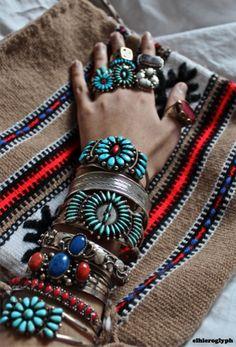 #Turquoise wrist pile
