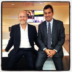 Massimo Gramellini e Mario Calabresi i nostri leader @la_stampa nella nuova sede :)