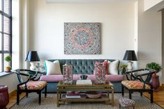 Brooklyn Loft Living Room by Tilton Fenwick