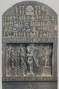 metternich stela  after being inmprisoned by Seth, Isis was freed by Thoth and told to seek hiding with her son, Horus, until he was of the age where he was able to accept his inheritance. Isis and Horus set off on a journey to the Delta accompanied by seven scorpions with the hope of seeking refuge in its dense marshland