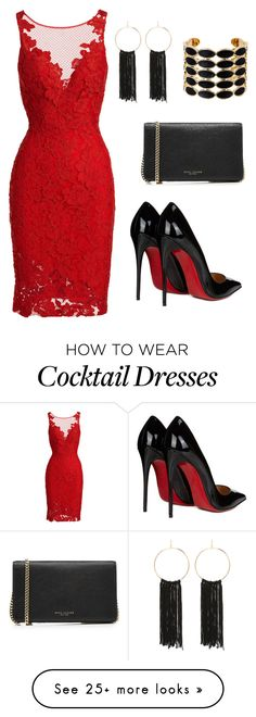 """""""Lovely Day"""" by slandrs on Polyvore featuring ML Monique Lhuillier, Christian Louboutin, Bebe, House of Harlow 1960, Marc Jacobs and halterdresses"""