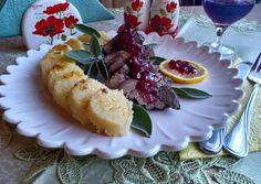 Sült dámszarvas tarja vörös áfonya öntettel | Izabela Ráczová receptje - Cookpad receptek