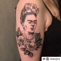 Frida en mi piel suuri kiitos @ellabrglnd ! #fridakahlotattoo #fridatattoo #myfirsttattoo #tatuata @tatuata