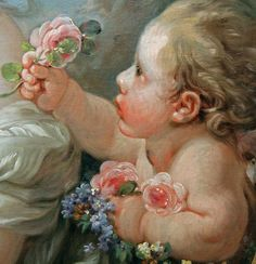 venus and cupid (detail), françois boucher