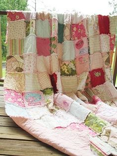 Queen Size Memory Quilt-Quilts memory quilts patchwork blanket rag quilt heirloom yesteryear tshirt quilt personal touches memories baby clothing quilt pink white shabby queen size handmade.