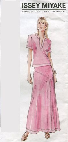 Issey Miyake Two Piece Dress Pattern Vogue by PengyPatterns