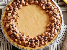 Peanut Butter No-Bake Cheesecake. Make with Reese's cup bottom. No crust.