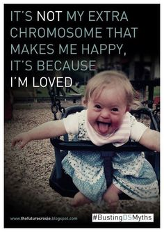 I love my sister with down syndrome. She is rocking that extra chromosome! Down Syndrome Quotes, Down Syndrome Baby, Down Syndrome People, Cool Baby, Precious Children, Beautiful Children, Beautiful Babies, Beautiful Things, Beautiful People