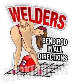 WELDERS Bend ROD in all Directions - Union - Sticker