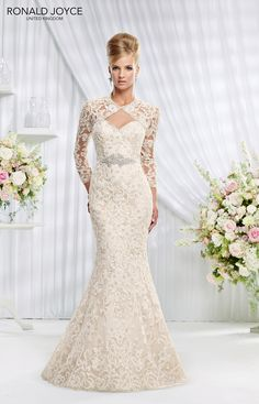 The Spring 2015 collection from Ronald Joyce is here!  #weddingdress #bridalwear #bridal 69005 from Ronald Joyce