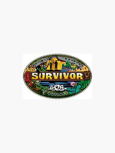 """Survivor Logo"" Sticker by sophieworrall | Redbubble"