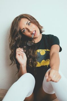 Batman tee and knee highs...The glamour of being comfy