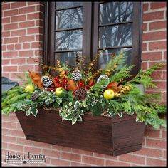 62 Cheap and Easy Fall Window Boxes Ideas - GODIYGO.COM - Cheap and easy fall window boxes ideas 17 - Window Boxes For Sale, Wood Window Boxes, Winter Window Boxes, Christmas Window Boxes, Window Box Flowers, Fall Flower Boxes, Fall Flowers, Fall Containers, Succulent Containers