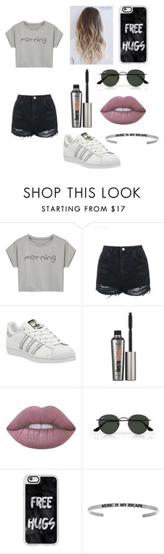"""""""Untitled #71"""" by avaacord ❤ liked on Polyvore featuring WithChic, Topshop, adidas, Benefit, Lime Crime, Ray-Ban and Casetify"""