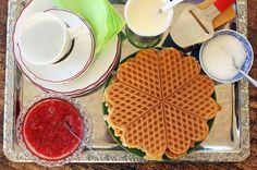 no - Finn noe godt å spise Pancakes And Waffles, Us Foods, Crepes, Biscuits, Bread, Baking, Breakfast, Sweet, Desserts