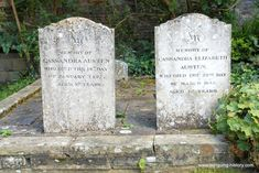 Headstones of Jane Austen's mother and sister Cassandra, Chawton Hampshire