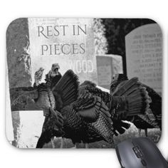 Rest in Pieces- Thanksgiving humor Mouse Pad - thanksgiving day family holiday decor design idea