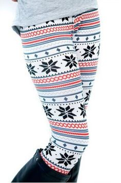Stylish Women's High Waist Geometrical Print Color Block Leggings Leggings | RoseGal.com Mobile