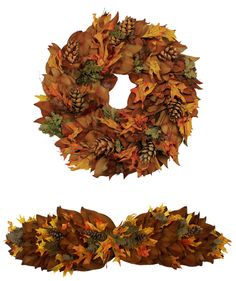 Copperbacked Pinecones Collection: Magnolia leaves cut off the farm from our specimen magnolia trees have a gorgeous glossy green finish and a gorgeous velvet copper underside. This fall dried magnolia collection is formed from the copper sides of the leaves and is accented with bright fall leaves and pinecones for a beautiful twist this autumn season.