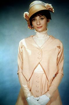 1963 Audrey Hepburn Wearing a costume designed by Cecil Beaton for the Broadway musical 'My Fair Lady'
