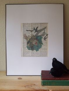 The Birds Vintage Book Page Print by ThePaperSnail on Etsy, $6.00