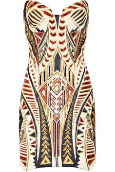 Embellished mini dress by Balmain