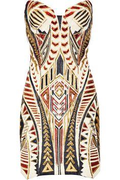 Vestido cheio de atitude da #Balmain ♥ #geometrico  { post by www.mariarossetti.com.br }