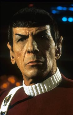 Leonard Nimoy in Star Trek: The Wrath of Khan Star Trek Ii, Star Trek Spock, Star Wars, Star Trek Ships, Star Trek Original, United Federation Of Planets, Star Trek Movies, Leonard Nimoy, Starship Enterprise