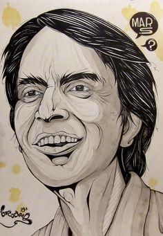 Carl Sagan - by Jesse Brockis