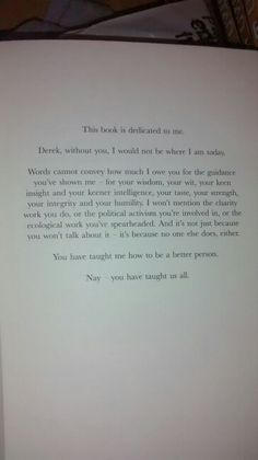 Derek Landy is amazing. His book dedications are fantastic.