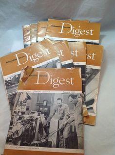 vintage automotive tools. vintage automotive digest (9 magazines), 1959-1961 tools r