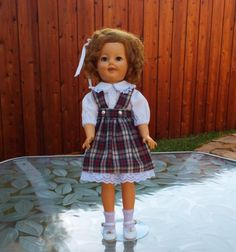 Vintage-Shirley-Temple-17-034-Doll-Flirty-Eyes-Neck-Marked-ST-17-1-Ideal-1950s