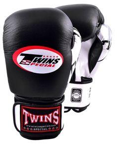 New Twins Special Fancy Black Muay Thai Boxing Gloves BGVL-3 FBGV Signature #Twins