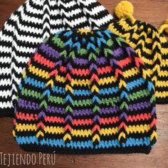 Crochet: gorro con trenzas de vainillas en circular para niños! Inspirado en los colores de los personajes de la película Intensamente o Inside Out :)