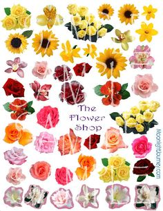 The Flower Shop Collage Sheet
