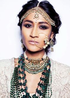 "tanipartner: "" Model styled by Sabyasachi for Delhi Couture Week """
