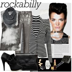"""""""Rockabilly"""" by queen-aldivel on Polyvore"""