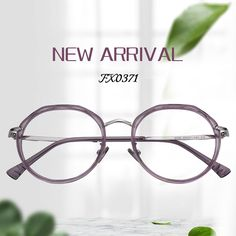 d9b13b79ee Laura Geometric Light Purple Glasses FX0371-01
