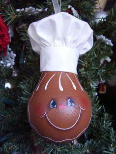 Gingie Lightbulb Ornament by CyndiMacsNickKnacks on Etsy