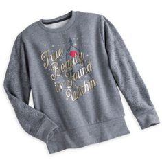 """Das Sweatshirt mit einem Motiv aus """"Die Schöne und das Biest"""" ist ein zauberhaftes Must-have. Es versprüht einen Hauch von Luxus mit kuscheligem Fleece-Innenfutter, einem Bild der verzauberten Rose, langen Ärmeln mit Kontrastdruck und goldglänzendem Schriftzug."""