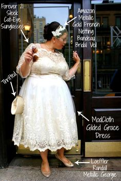 Adventures of a Misfit Librarian's Wedding Plus Size Style.