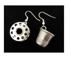 Tailor Sewing Supplies Earrings Thimble and Coil by miniblings, €9.99
