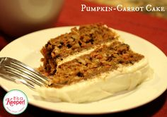 This scrumptious Pumpkin Carrot Cake with Cream Cheese Frosting is a delicious twist on a one of my favorite desserts -- carrot cake!