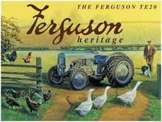 Ferguson TE20, Tractor, Farm, Vintage, Classic, Heritage, Small Metal/Tin Sign   eBay