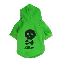 Egmy® Hot! 2016 Halloween Fleece Black Skeleton Pet Dog Cat Puppy Clothes with Hood Sweater Coat * You can get more details by clicking on the image. (This is an affiliate link) #CatApparel
