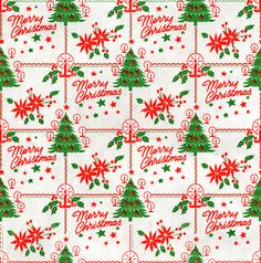 red and green vintage Christmas wrapping